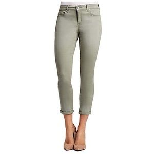 Jessica Simpson Green Rolled Crop Skinny Size 12